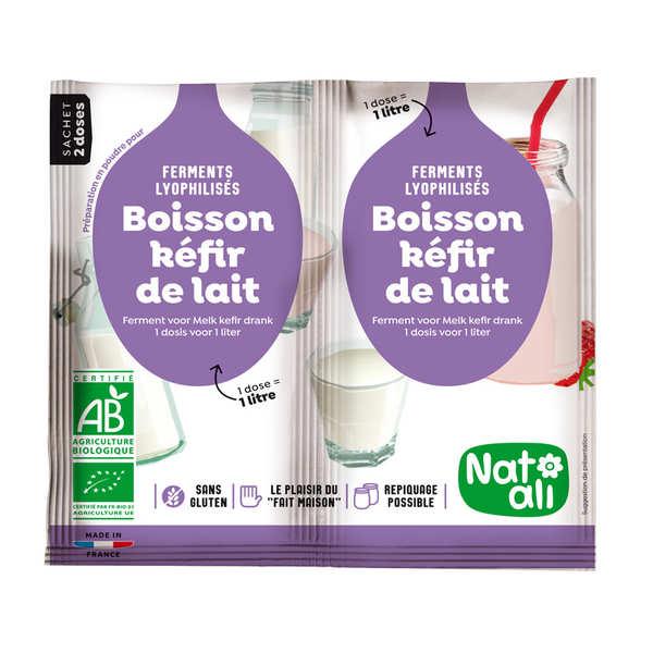 Nat-Ali Préparation pour boisson kéfir de lait bio - Les 2 doses de 6g