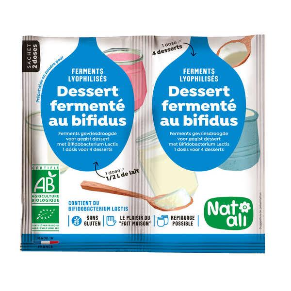 Nat-Ali Préparation pour yaourt au bifidus bio - Les 2 doses de 6g