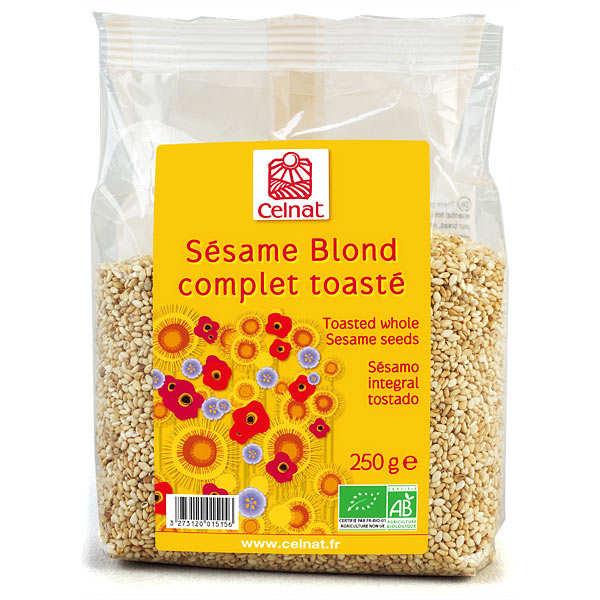 Celnat Sésame blond complet toasté bio - Lot 4 sachets de 250g