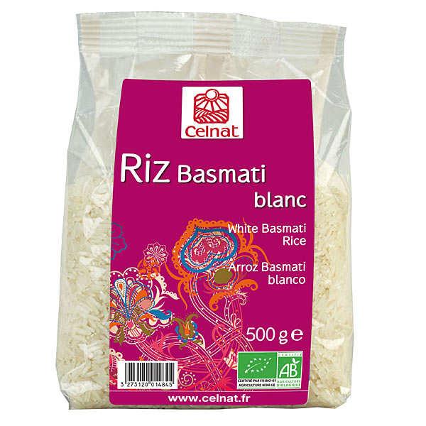 Celnat Riz basmati blanc bio en sachet - Sachet 500g