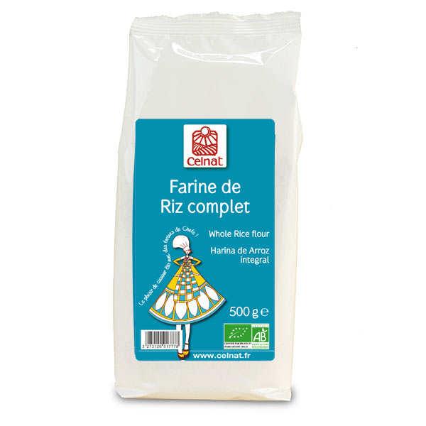 Celnat Farine de riz complet bio - Sachet 500g