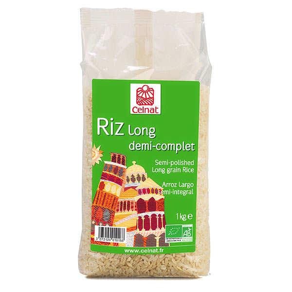 Celnat Riz long demi-complet bio - Sachet 1kg