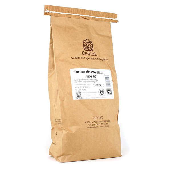 Celnat Farine de blé bise bio type 80 - Sac 5kg