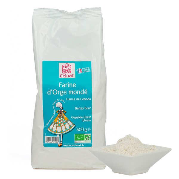 Celnat Farine d'orge mondée bio - Lot 4 sachets de 500g