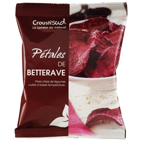 Croustisud Chips de betterave bio sans sel ajouté - 6 sachets de 70g