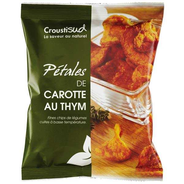 Croustisud Chips de carotte au thym bio sans sel ajouté - 6 sachets de 70g