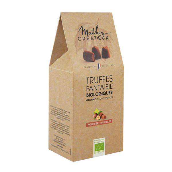 Chocolat Mathez Truffes fantaisie bio aux éclats de noisettes - 3 boites de 200g