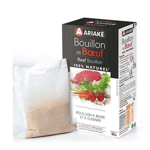 Ariaké Japan Bouillon de boeuf - Ariaké - 3 boites de 5 sachets de 33cl