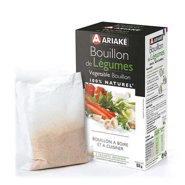 Ariaké Japan Bouillon de légumes - Ariaké - Lot de 4 boîtes de 5 sachets de 2L