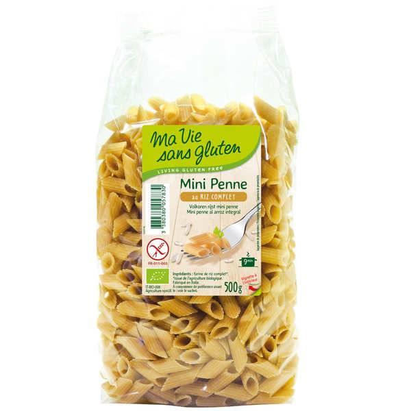 Ma vie sans gluten Mini penne au riz complet - pâtes bio certifiées sans gluten - Sachet 500g