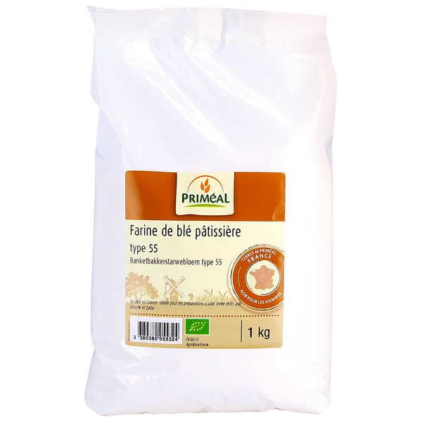 Priméal Farine pâtissière de blé T55 BIO - 3 sachets de 1kg