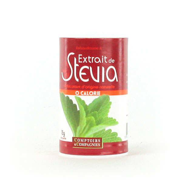 Comptoirs et Compagnies Stevia blanche en poudre - Lot 3 pots 15g