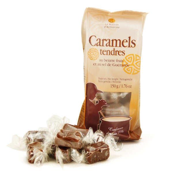 La Maison d'Armorine Caramels au beurre salé et au sel de Guérande - 6 sachets de 150g