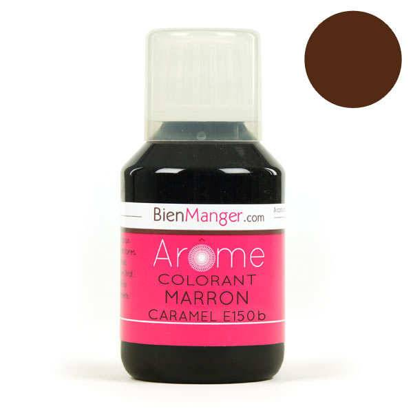 BienManger aromes&colorants Colorant alimentaire marron caramel E150b - Liquide - Flacon doseur 115ml