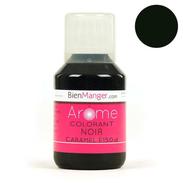 BienManger aromes&colorants Colorant alimentaire noir caramel E150d - Flacon doseur 115ml