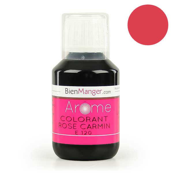 BienManger aromes&colorants Colorant alimentaire rose carmin E120 - Lot de 5 flacons doseurs 115ml