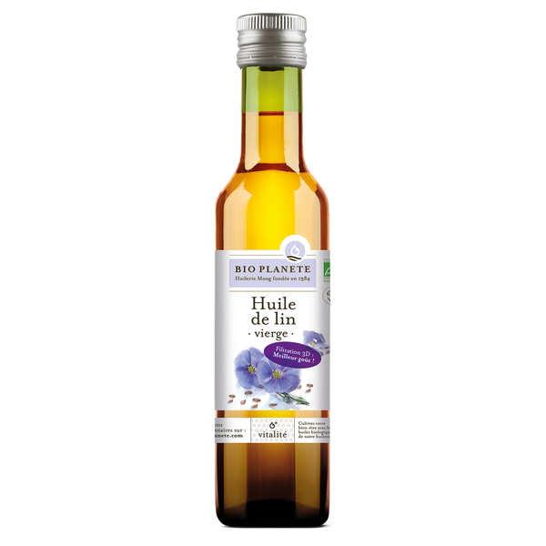 BioPlanète Huile de lin vierge extra douce Bio - 6 bouteilles de 25cl