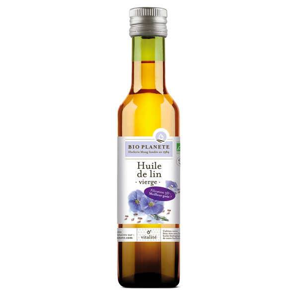 BioPlanète Huile de lin vierge extra douce Bio - 3 bouteilles de 25cl