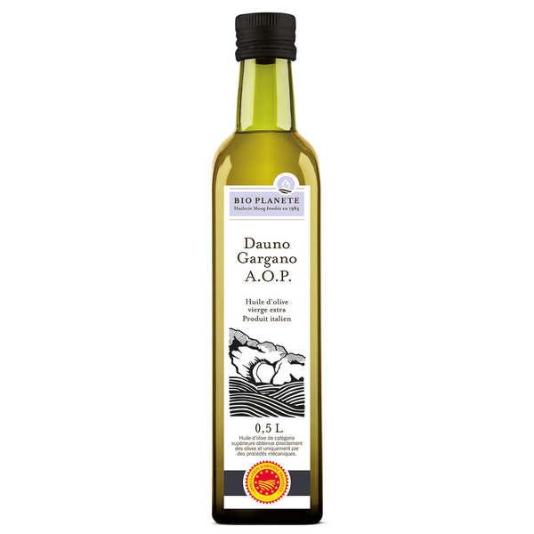 BioPlanète Huile d'olive vierge extra d'Italie DOP Gargano Bio - 3 bouteilles de 50cl