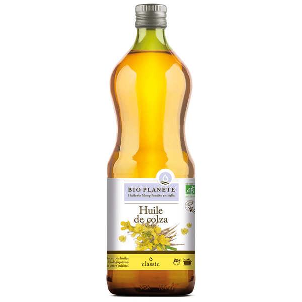 BioPlanète Huile vierge de colza Bio - 3 bouteilles de 1L