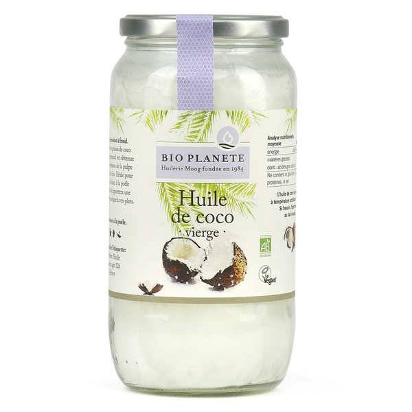 BioPlanète Huile de coco vierge bio - Bocal 950ml