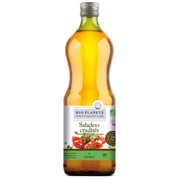 BioPlanète Huile pour salades et crudités Bio (colza tournesol olive) - 3 bouteilles de 1L