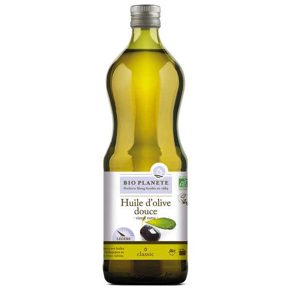 BioPlanète Huile d'olive vierge extra douce Bio - 3 bouteilles de 1L