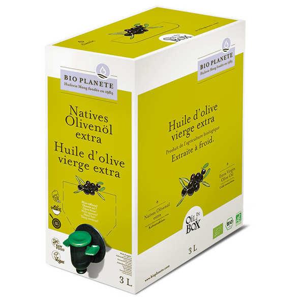 BioPlanète Huile d'olive vierge extra bio en Bag in Box - Bag in Box 3L