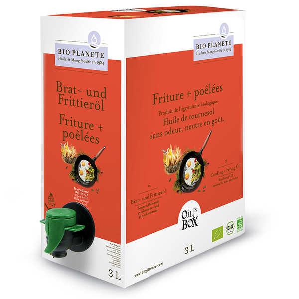 BioPlanète Huile de tournesol désodorisée bio spéciale cuisson en Bag in Box - Bag in Box 3L
