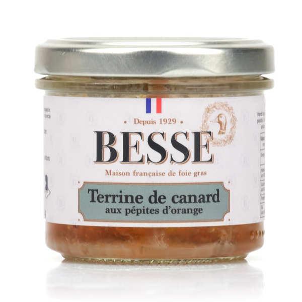 Foie gras GA BESSE Terrine de canard aux pépites d'orange - Bocal100g