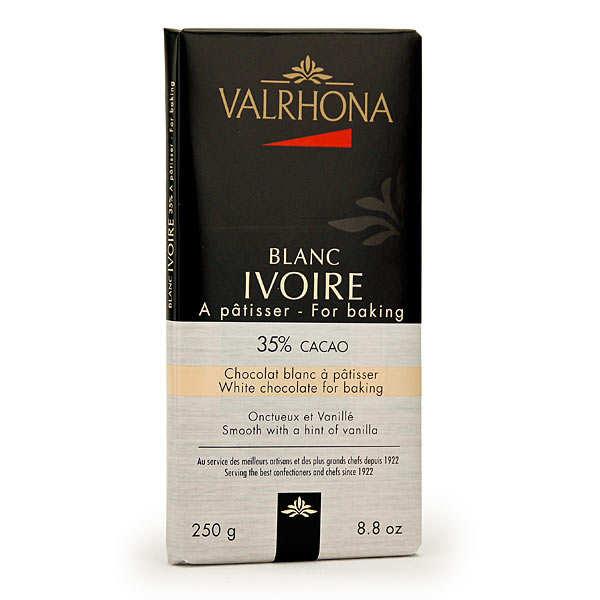 Valrhona Tablette de chocolat blanc ivoire gastronomie 35% cacao - Valrhona - Tablette 250g
