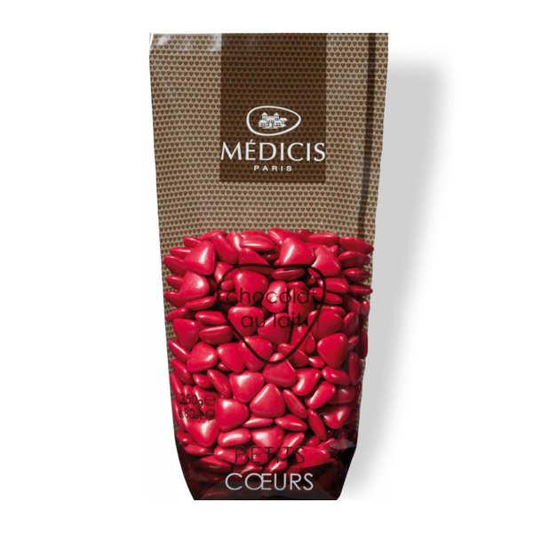 Dragées Médicis Dragées petits coeurs framboise au chocolat au lait - Sachet 250g