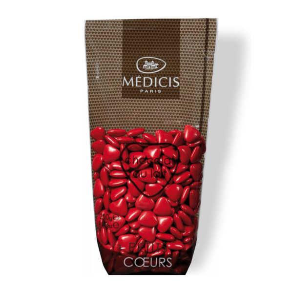 Dragées Médicis Dragées petits coeurs rouges au chocolat au lait - Sachet 250g