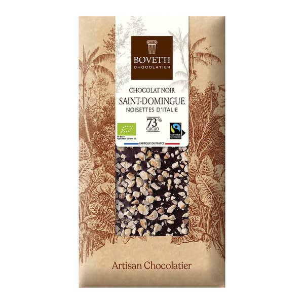 Bovetti chocolats Tablette chocolat noir Bio noisette - 6 tablettes de 100g