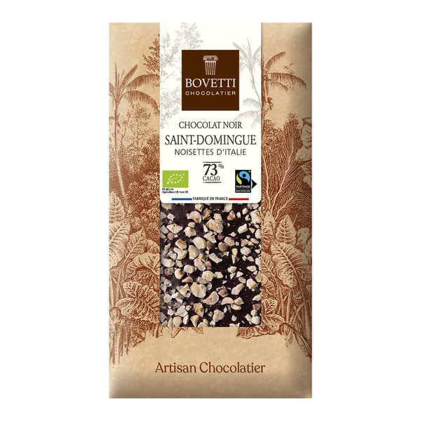 Bovetti chocolats Tablette chocolat noir Bio noisette - 3 tablettes de 100g