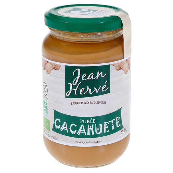Jean Hervé Purée de cacahuètes bio (pâte d'arachides) - 6 pots de 350g