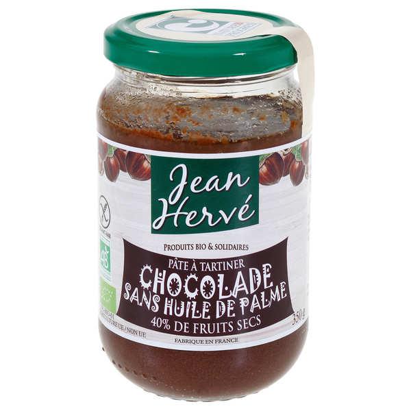 Jean Hervé La chocolade - pâte à tartiner bio sans huile de palme - Pot 750g