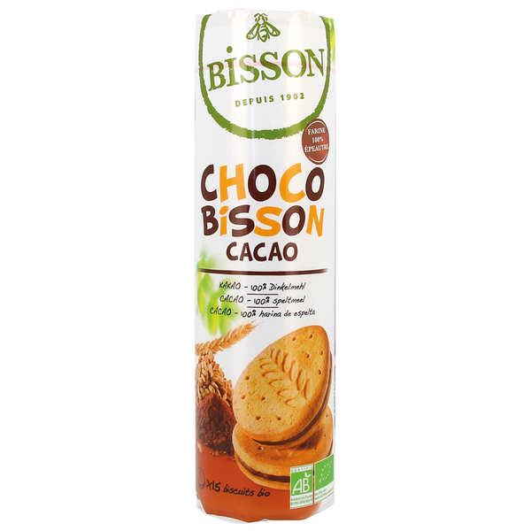 Bisson Biscuits fourrés au chocolat bio - Choco bisson cacao bio - Paquet 300g
