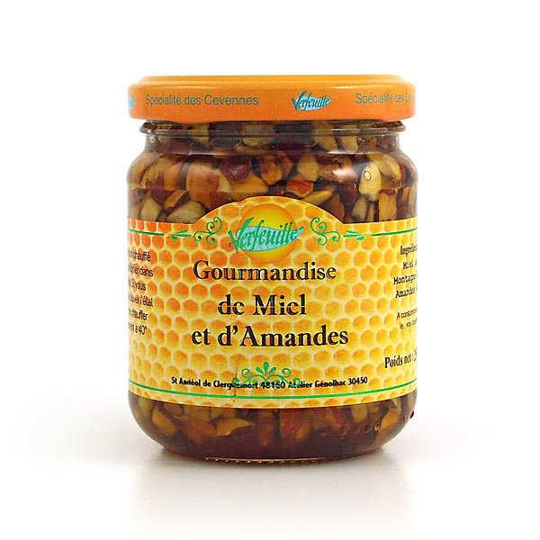 Verfeuille Gourmandise de miel et d'amandes - Bocal 250g
