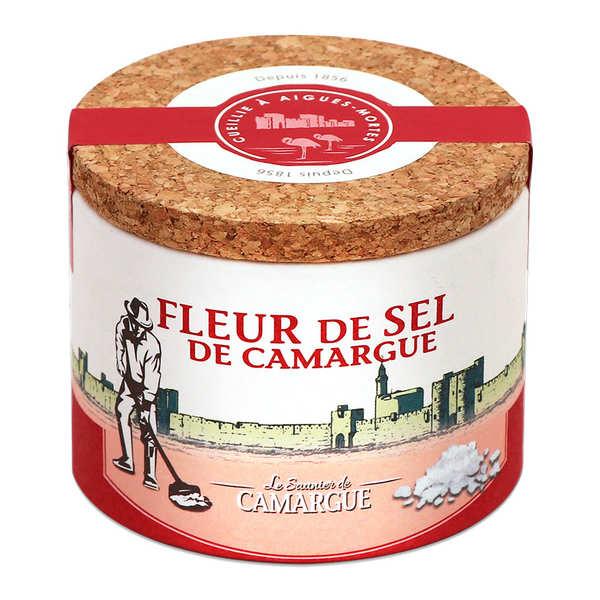 Les Saunier de Camargue Fleur de sel de Camargue - Boite ronde - Boite 125g
