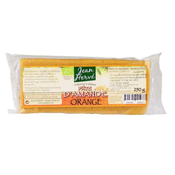 Jean Hervé Pâte d'amande à l'orange confite -  bio - Lot de 3 barres 50g