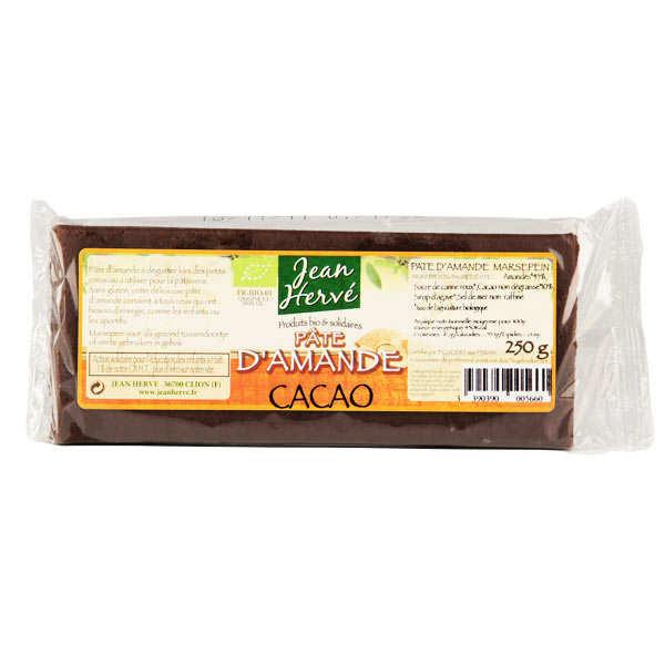Jean Hervé Pâte d'amande au cacao - bio - Barre 50g