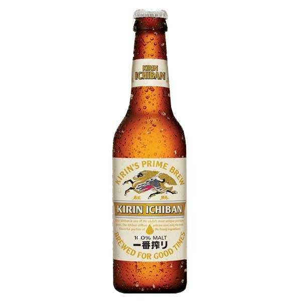 Kirin Brewery Kirin Ichiban - Bière Blonde Japonaise - 5% - Lot 6 bouteilles
