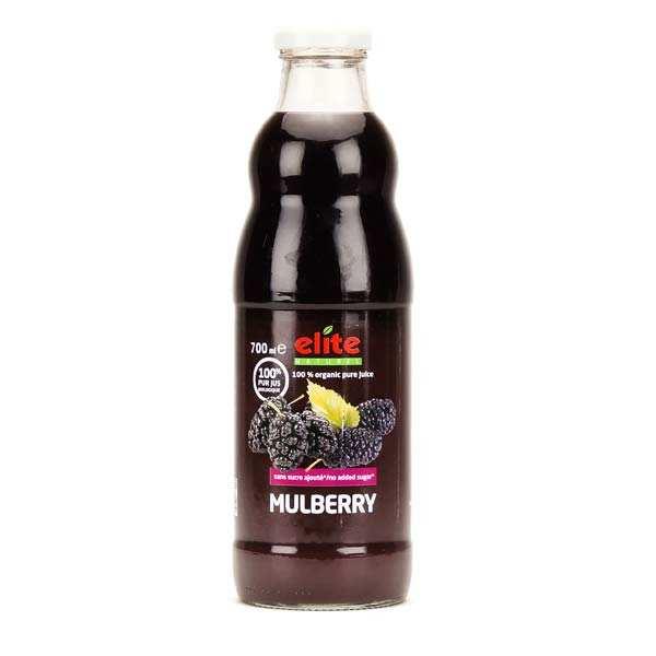 Elitegroup Pur jus de mulberry noire bio - Lot 6 bouteilles de 70cl