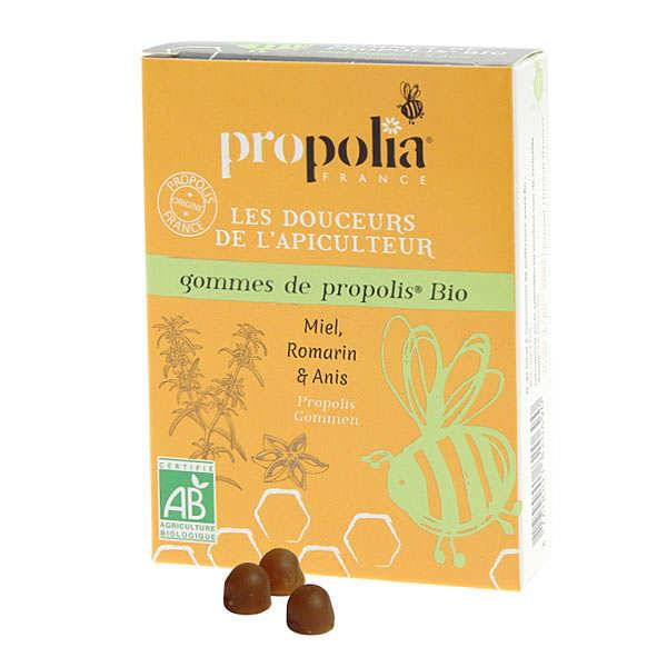 Propolia Gommes de Propolis Bio - Miel et romarin bio, anis - Lot de 3 boites 45g