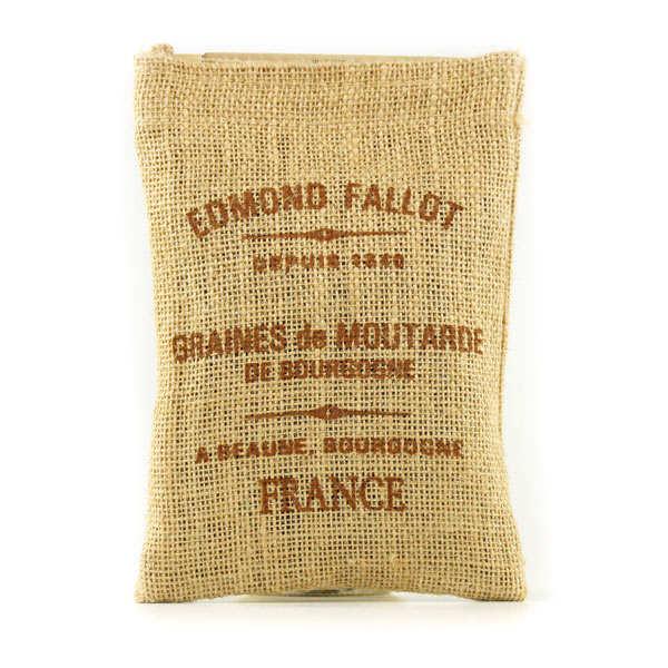 Fallot Graines de Moutarde de Bourgogne - Sac toile de jute - 3 sachets de 250g