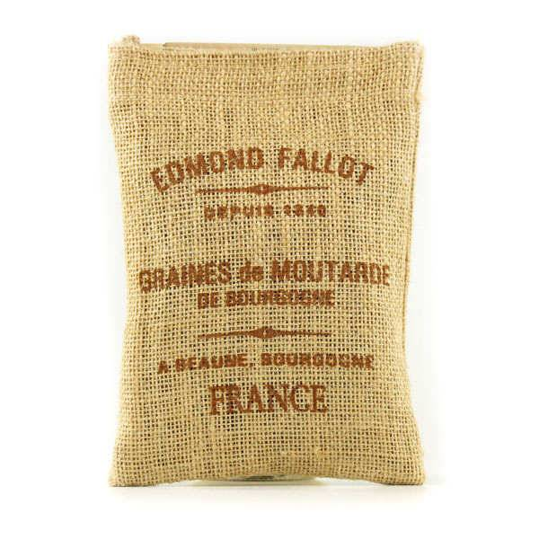 Fallot Graines de Moutarde de Bourgogne - Sac toile de jute - Sachet 250g