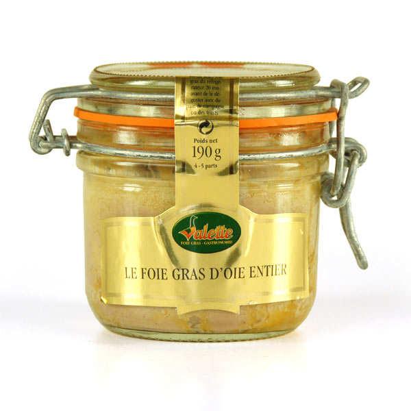 Valette Foie gras d'oie entier - 3 bocaux de 180g