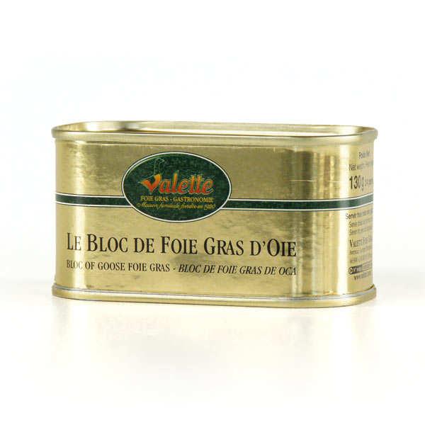 Valette Le bloc de foie gras d'oie - La boite de 200g