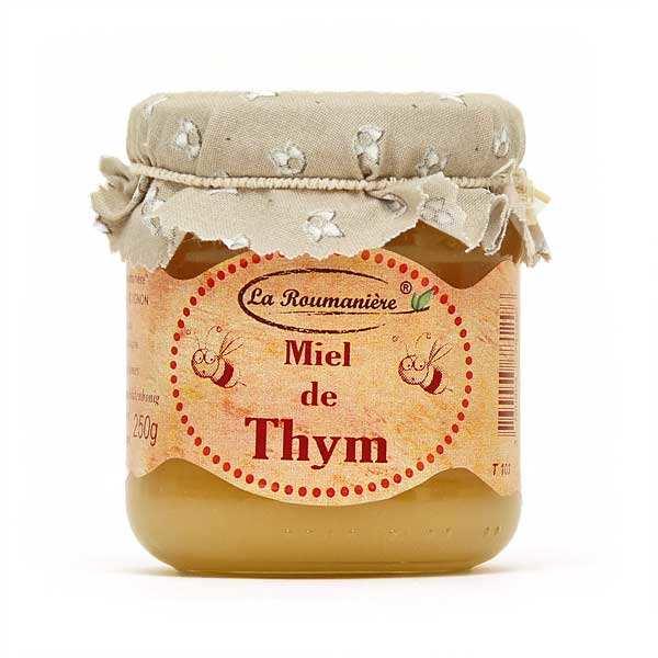 La Roumanière Miel de Thym d'Espagne - Bocal 250g